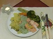 Losos na zelenině - recept na lososa na zelenine