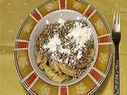 Ořechové nudle - recept na nudle s ořechy