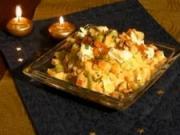 Bramborový salát s kozím sýrem - recept na bramborový salát