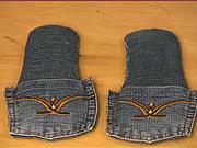 Pantofle ze starých džín - Jak se dají staré džíny předělat  na pantofle.