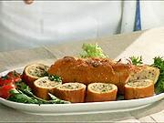 Francouzska bageta s hovězím masem a sýrem ricotta