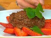 Čokoládová pěna - recept na čokoládovou pěnu s jahodami