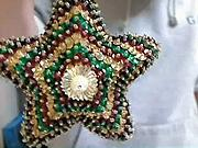 Vánoční hvězda - Hvězda na  vánoční stromček - jak si vyrobit vánoční hvězdu