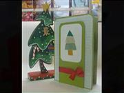 Vánoční pohlednice - Jak vyrobit vánoční pozdrav ve tvaru vánočního stromečku