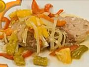 Vepřový steak na pomerančích - recept na vepřoví steak
