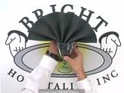 Ubrousek ve tvaru vějíře - Jak poskládat ubrousek do tvaru vějíře