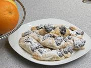 Makové šatečky - recept na makové koláče z listového těsta