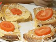Vajíčkovo syrove topinky - recept na topinky se sýrem a vajíčkami