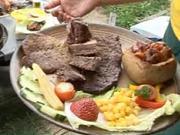Grilovaný hovězí závitek - recept  hovězí závitek se zelím a  slaninkou