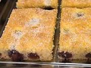 Ovocní bublanina  - recept na  třešňový koláč