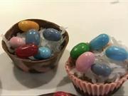 Velikonoční čokoládové košíčky - recept na velikonoční košíčky