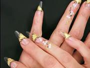 Gelové nehty - zlato stříbrné
