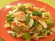 Michaný salát s kozím sýrem - recept na míchaný salát s kozím sýrom  - zdravá večeře