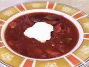 Boršč - recept na sytou  zeleninovou polévku