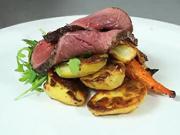 Šťavnatá hovězí pečeně - recept na hovězí pečeně s bramborami a kořenovou zeleninou