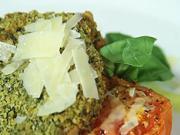Vepřová pečeně - recept na vepřovou pečeně s bazalkou a pečenými rajčaty