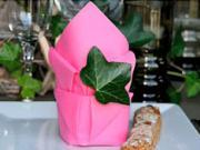 Růžový ubrousek - Jak poskládat ubrousek na stolování