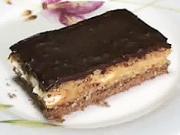 Ořechový  zákusek - recept na ořechovo kávový koláč s  piškotama