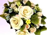 Květy z marcipánu - ozdobní dekorace z květů