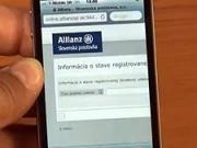 Zdokumentování autonehody přes Iphone  -  Elektronická aplikace na zdokumentování pojistné události - Alianz SP