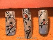 Zimní téma - gelové nechty