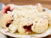 Jahodové knedlíky - recept na kynuté jahodové kuličky s tvarohem