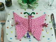 Ubrousek ve tvaru motýla - jako poskládat ubrousek do tvaru motýla