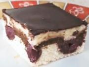 Višňový koláč Dunajské vlny - recept na kakaový - višňový koláč