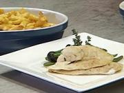 Filety na olivách - recept na pečené filety z tresky na olivách a zelenými fazolkach