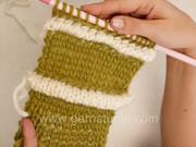 Pletení - nabíraný vzor