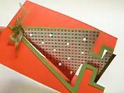 Vánoční pohlednice s vánočním stromečkem