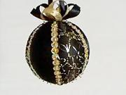 Černá saténová vánoční koule
