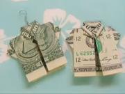 Jak poskládat peníze do tvaru košile
