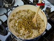 Hlívové rizoto - recept na italské rizoto s hlívou ústřičnou a hráškem
