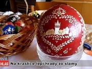 Kraslice - zdobení vajíček slámou