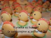 Piškótové kuřátka - jak udělat jednoduché velikonoční kuřátka
