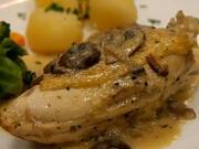 Kuře na smetaně - recept na kuře na smetaně s brokolicí a bramborami
