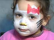 Hello Kitty - make up pro děti - jak udělat make-up Hello Kitty