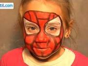 Spiderman - make up pro děti - jak udělat make-up Spiderman
