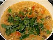 Thajska kuřecí polévka - recept na thajskou polévku s kokosovým mlékem
