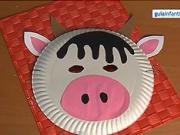 Maska pro děti - kravička