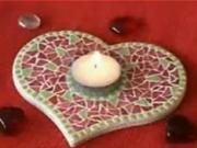 Svícen z mozaiky - jak vyrobit svícen z mozaiky