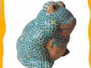 Žabka z mozaiky - jak si vyrobit dekoraci z mozaiky