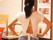 Předělávka trička - otevřená záda