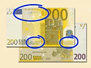 200 Eur - Jak rozpoznat ochranné prvky 200 € eurobankovek
