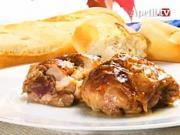 Plněné kuřecí řízky - recept na kuřecí řízky plněné vínem a vlašskými ořechy