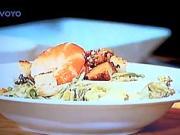 Caesar salát s krevetami - recept na Caesar salát