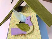 Decoupage budky pro ptáky - jak udělat látkovou dekupáž ptačí budky