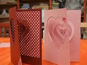 Valentýnská 3D pohlednice