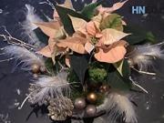 Vánoční dekorace - jak udělat vánoční ikebanu